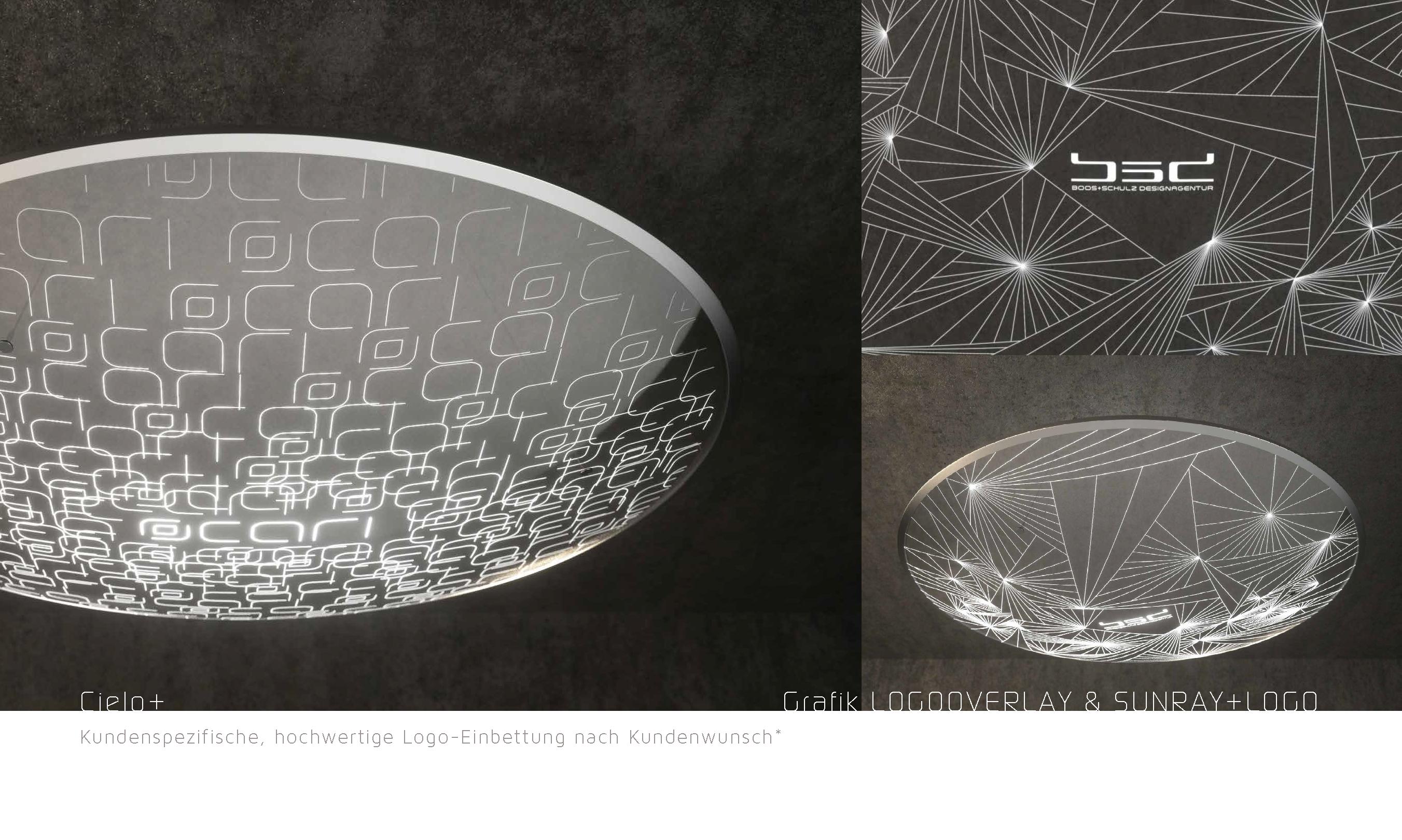 Kundenspezifische, hochwertige Lichtgrafik-Anpassung & Logo-Einbettung*