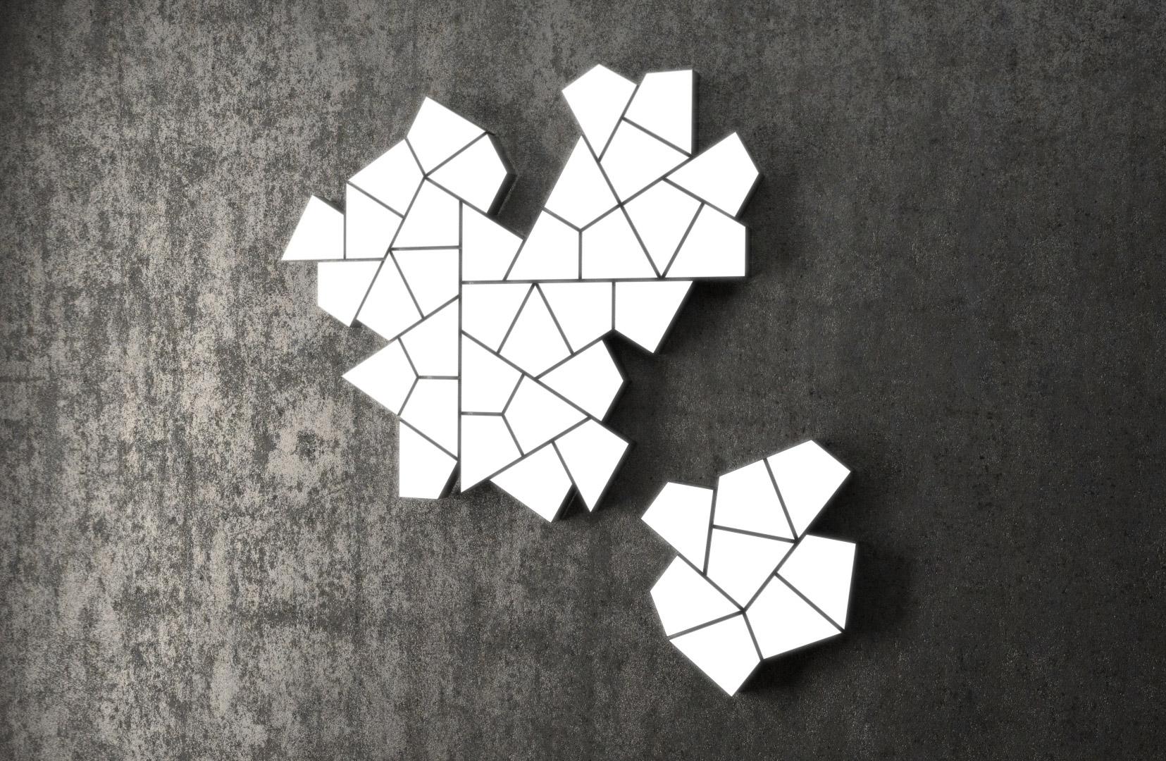 Modulare Anpassung als Puzzle mit jeweils zugeschnittener Wandplatte